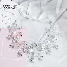 Miallo Fashion Handmade Flowers Wedding Hair Vine Bridal Headband Headpiece Hair Jewelry Accessories for Women недорого