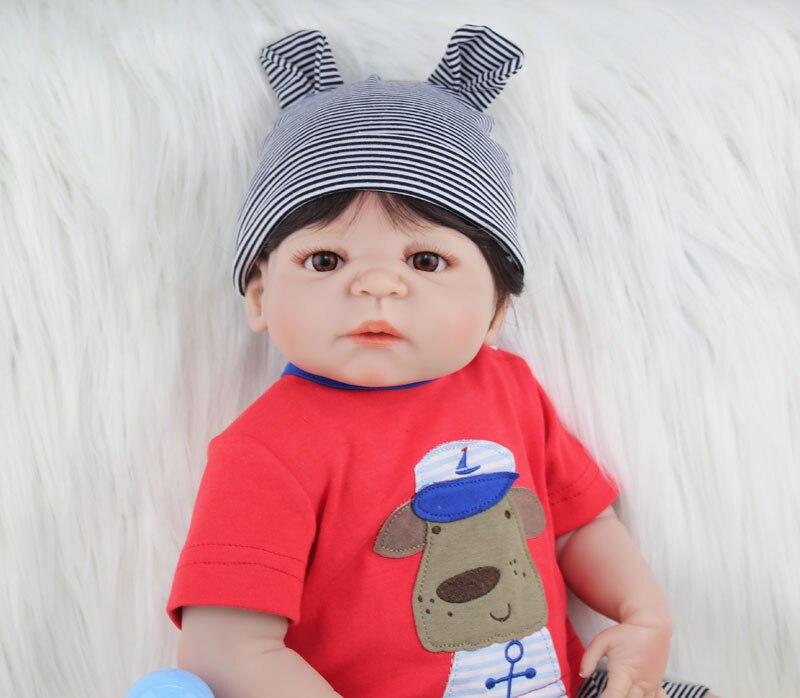 BZDOLL 22 Full Silicone Reborn Baby Doll Toy Lifelike 55cm Newborn Boy Babies Doll Lovely Birt