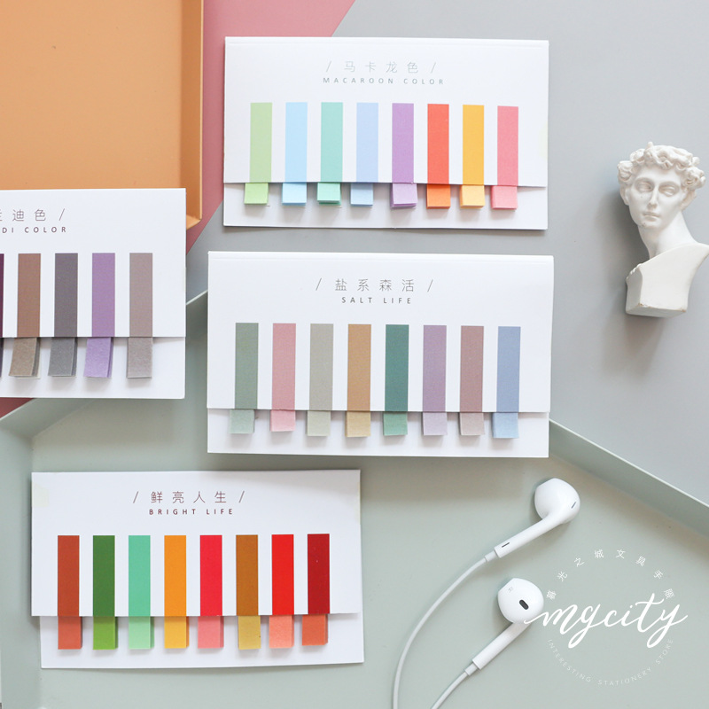 Salt Life Solid Color Combination Multi-Color Loose Leaf Notes Paper Bookmark School Office Supply Stationery