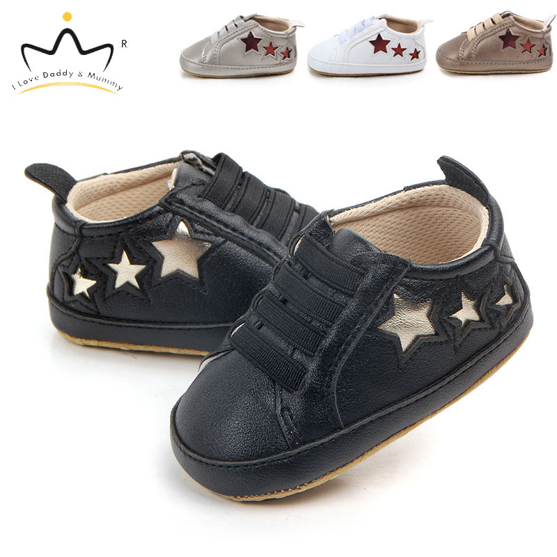 Newborn Toddler Infant Baby Shoes Soft Cotton Star Print Boy Girl Casual Shoes Sneakers Boys Girls Non-slip First Walkers