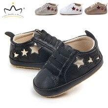 Newborn Toddler Infant Baby Shoes Soft Cotton Star Print Boy