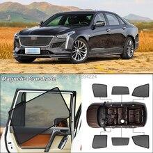 Car Side Windows Magnetic Sun Shade UV Protection Ray Blocking Mesh Visor For Cadillac CT6