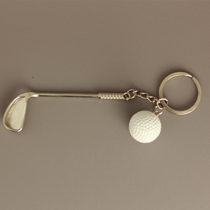 Мяч для гольфа, имитация, брелок, креативный, спортивный сувенир, мужская и женская сумка, подвеска, металлический автомобильный брелок, акс...
