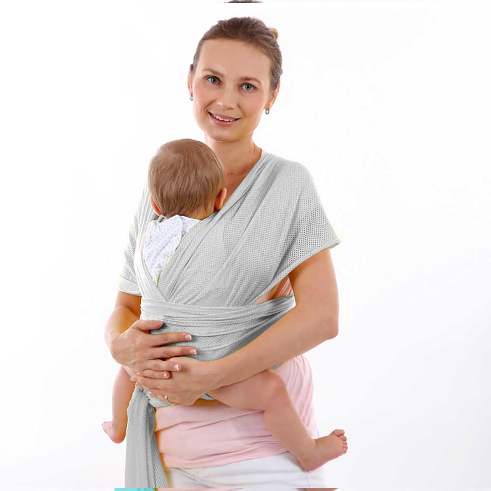 9 kolorów ergonomiczna oddychająca siatka krzyżowa typ trzymania chusta do noszenia dzieci pasek wielofunkcyjny nosidełko dziecięce szelki do pończoch