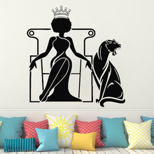 Vinyl Beautiful African Woman Wall Decal for kids room decoration Girl Wall Sticker Beauty Salon Wall Art home decor HQ120 beauty little girl wall sticker pvc wallstickers wall art wallpaper for kids room decoration waterproof adesivi murali lw588
