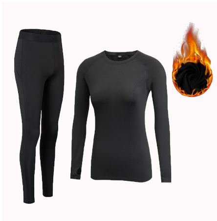 2019 Winter Thermal Underwear Ladies Quick-drying Anti-microbial Stretch Plus Velvet Thermal Underwear Set Women's Warm Trousers