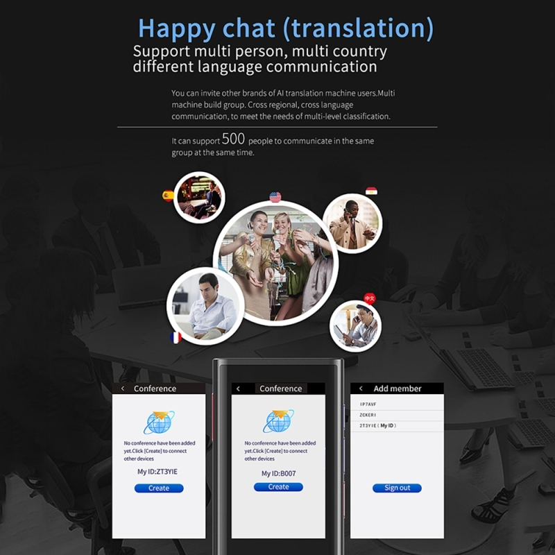 BOELEO W1 3.0 Smart Voice Pocket Language Translator for Business and Travel with 1GB RAM and 8GB ROM Supports 117 Languages along with 2.8 inch Screen 4