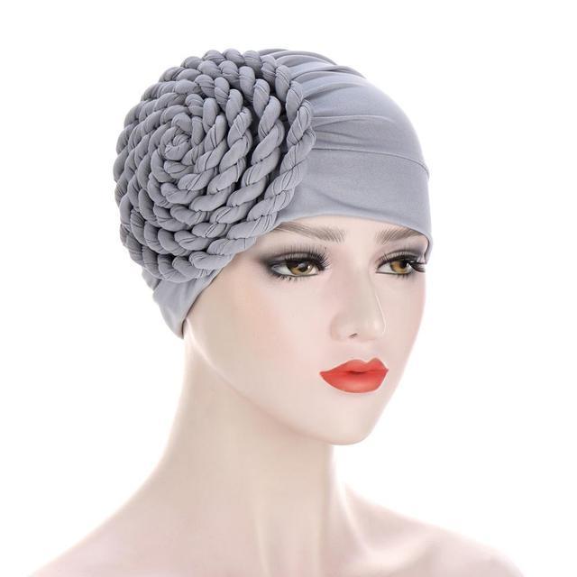 новый головной убор тюрбан шапки для женщин твердая коса рюшами фотография