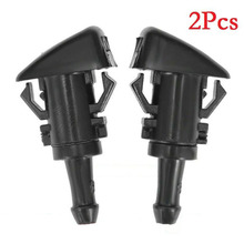 цены 2pcs Black Cleaning Nozzle Windshield Washer Water Nozzle Spray For Chrysler Dodge Ram Replace #47186