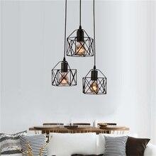 Loft Industrial viento Retro luces colgantes de hierro E27 LED lámpara colgante para cocina Sala dormitorio balcón vanidad Luz