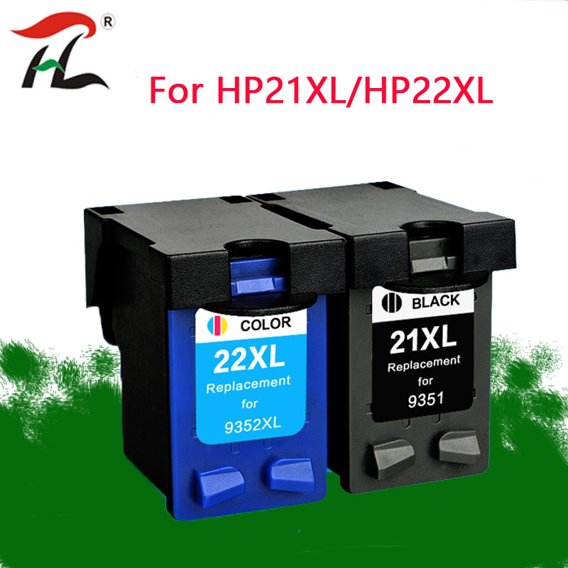 YLC 21XL 22XL ink <font><b>cartridge</b></font> Replacement For <font><b>hp</b></font> <font><b>21</b></font> <font><b>22</b></font> <font><b>cartridge</b></font> for HP21 Deskjet F380 F2180 F2280 F4180 F4100 F2100 F2200 F300 image