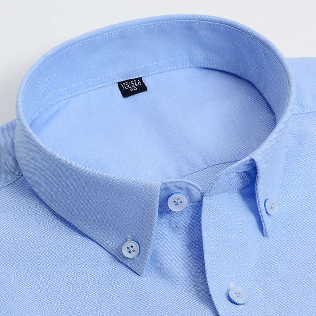 Striped Casual Short Sleeve Oxford Cotton Shirts 3