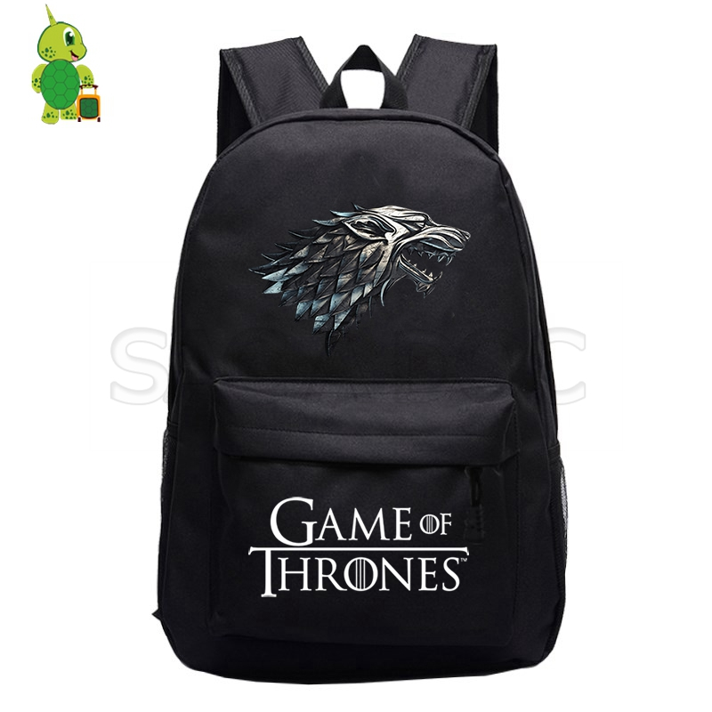 Game Of Thrones Backpack House Stark Targaryen School Bags For Teenage Girls Boys Daily Laptop Backpack Casual Travel Bags