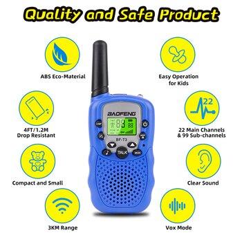 2Pcs Walkie Talkie Kids Radio Handheld mini Walkie-talkie for Children Communicator Flashlight Safe Power Two Way interphone 1