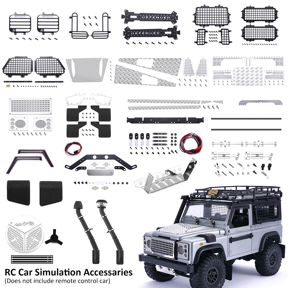 RC Car Simulation Accessaries Assembly Car Accessaries For Model D90 D91 MN99 MN99S 1/12 RC car Window Mesh Upgrade Spare Parts