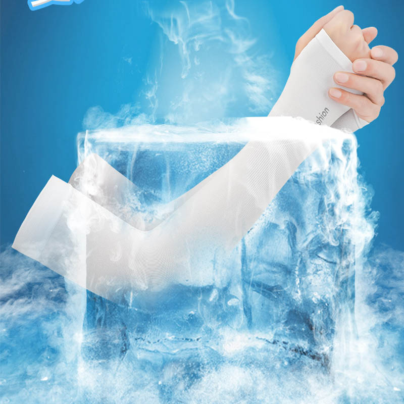 Anti-tanned Arm Sleeves Icy Silk Sleeves Skin-protected Sleeves Summer Gloves Outdoor Riding Driving Hiking Arm Sleeves Anti-UV