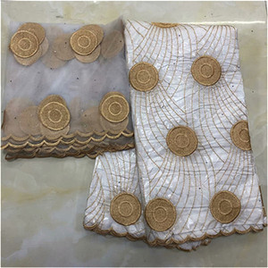 Image 2 - bazin riche brocade 2019 new design bazin riche fabric tissu african bazin lace with embroidery and stones guinea brocade fabric