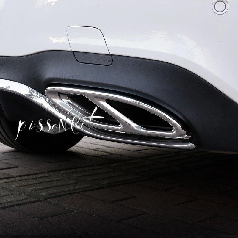 Couvercle de tuyau déchappement de voiture, pour Mercedes Benz A B C E GLC GLE GLS classe W176 W246 W247 W205 W213 coupé C207 X253 W166 C292 X166