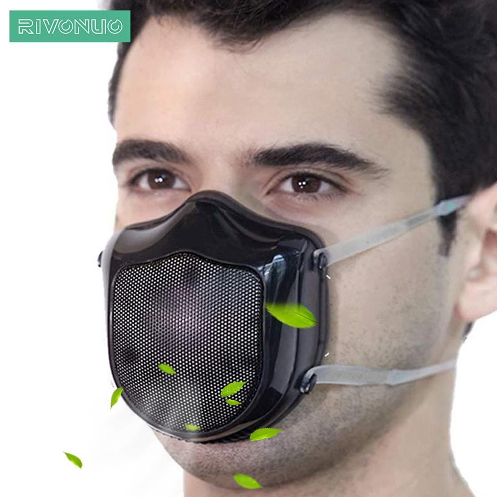 Reusable Smart Electrical Filter Air Black Dusk Face Flu P2 Mask Anti Dust Pollution Facemask