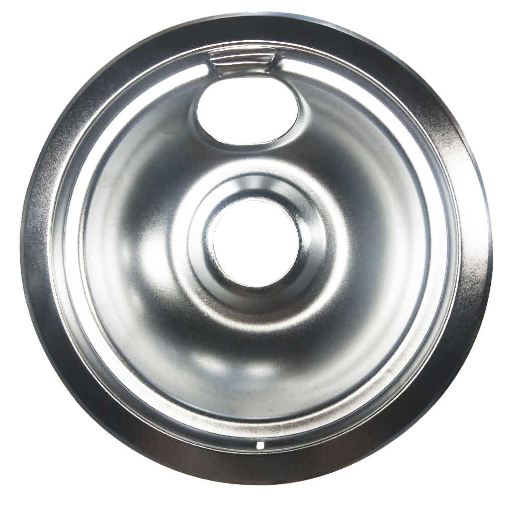 Chrome Small 6inch Replacement Parts for Electric Range Reflector Bowls With Locking Slot - Silver