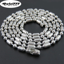 oulai777 2019 wholesale stainless steel Women necklace beads fashion jewelry Men men womens long punk couple