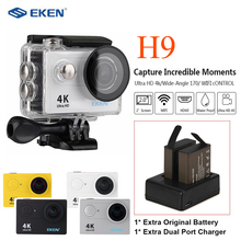 цены EKEN H9 Sport Action Camera WiFi Waterproof Underwater Sport Cam+Battery+Battery Charger
