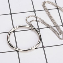 1Pcs Creative Baby Kids Fashion Metal Magical Handmade Tricks Props Large Silver Tomorrow Ring Necklace Intelligence Toys Gifts