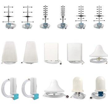 Antena móvil con ganancia de 2G, 3G, 4G, 8dB, Antena Yagi para exteriores, amplificador direccional y Cable de 50 pies, conector macho N para repetidor