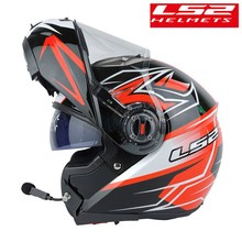 LS2 FF370 Modular Motorcycle Helmet Bluetooth headset Flip Up kask intercom moto Capacete ls2 Racing