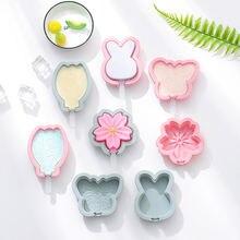 Diy Симпатичные Силиконовые формы для мороженого с крышкой ручной