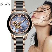 2019 Watches Women's Luxury Brand SUNKTA Woman Clock Quartz Wristwatch Fashion Ladies Wristwatch Reloj Mujer Relogio Feminino