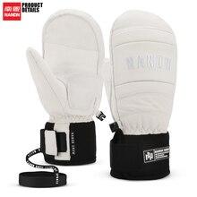NANDN лыжные перчатки кожаные теплые водонепроницаемые ветрозащитные перчатки для сноуборда для мужчин и женщин