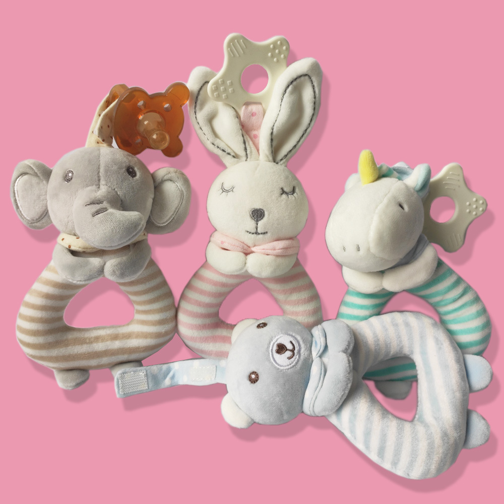 Music Baby Stuffed Animal Soothe Handbell Bunny Security Blanket Elephant Pacify Towel Newborn Teether Appease Blanket