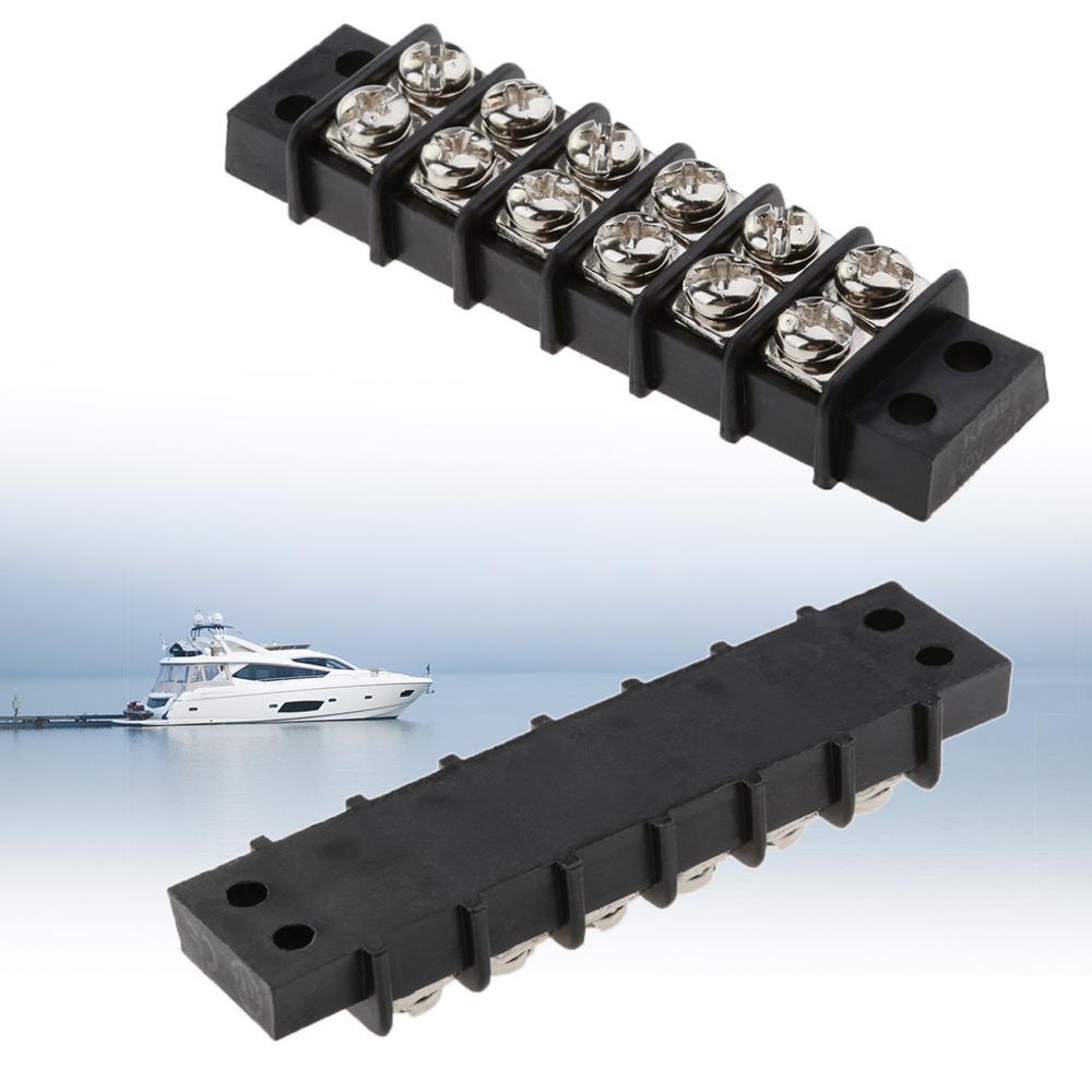 Boat 6 Way Terminal Block Bus Bar Dual Terminal Block Bus Bar 30A 12V Insulator Base For Marine Yacht RV Boat Accessories Marine