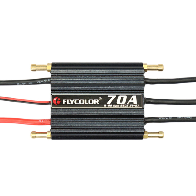 Flycolor Waterproof 70A 6S ESC for RC Boat