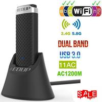 EDUP Wireless USB Wifi Adapter 5Ghz 1200Mbps Lan USB Ethernet 2.4G 5G Dual Band Wi fi Network Card Wifi Dongle 802.11n/g/a/ac