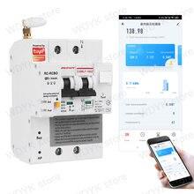 Однофазный tuya din рейка wifi умный измеритель энергии защита