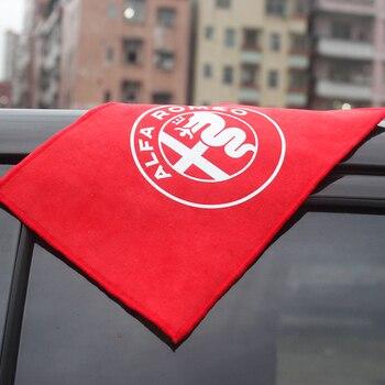 Toalla de coche de 18x28cm, almohada Ultra suave, tela de gamuza negra/roja...