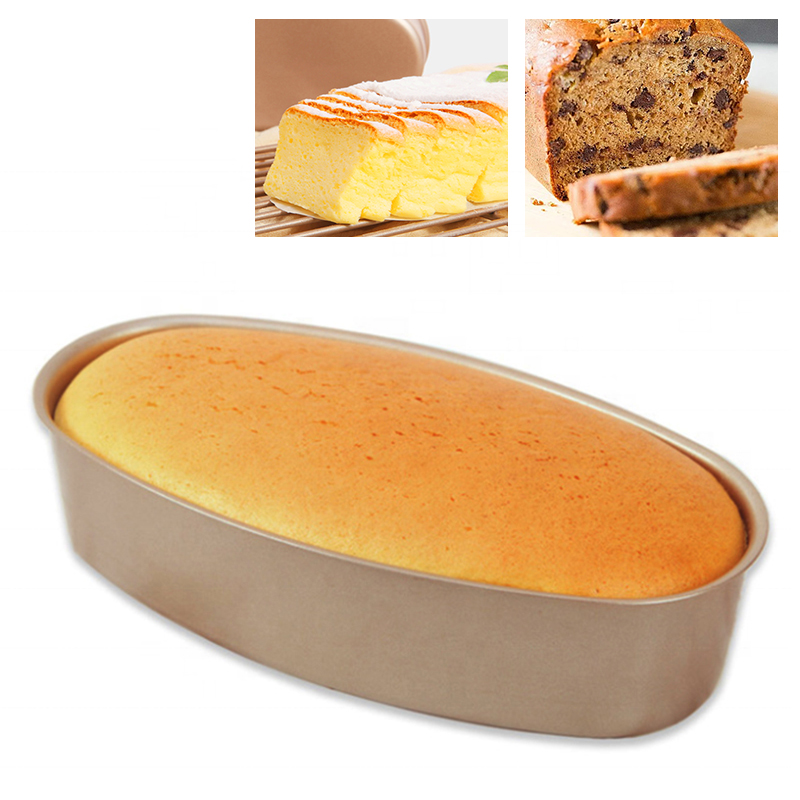Oval Shape Nonstick Baking Tray Loaf Mold Cheese Cake Pan Kitchen Baking Tool