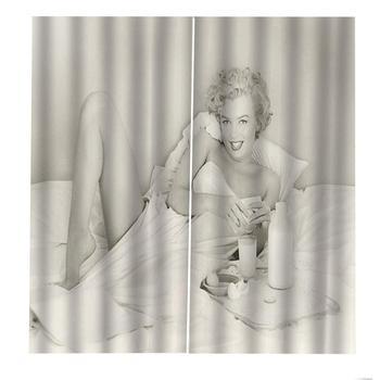 Cortina De Ducha En Blanco Y Negro | Cortina De Ducha De Marilyn Monroe Retro En Blanco Y Negro