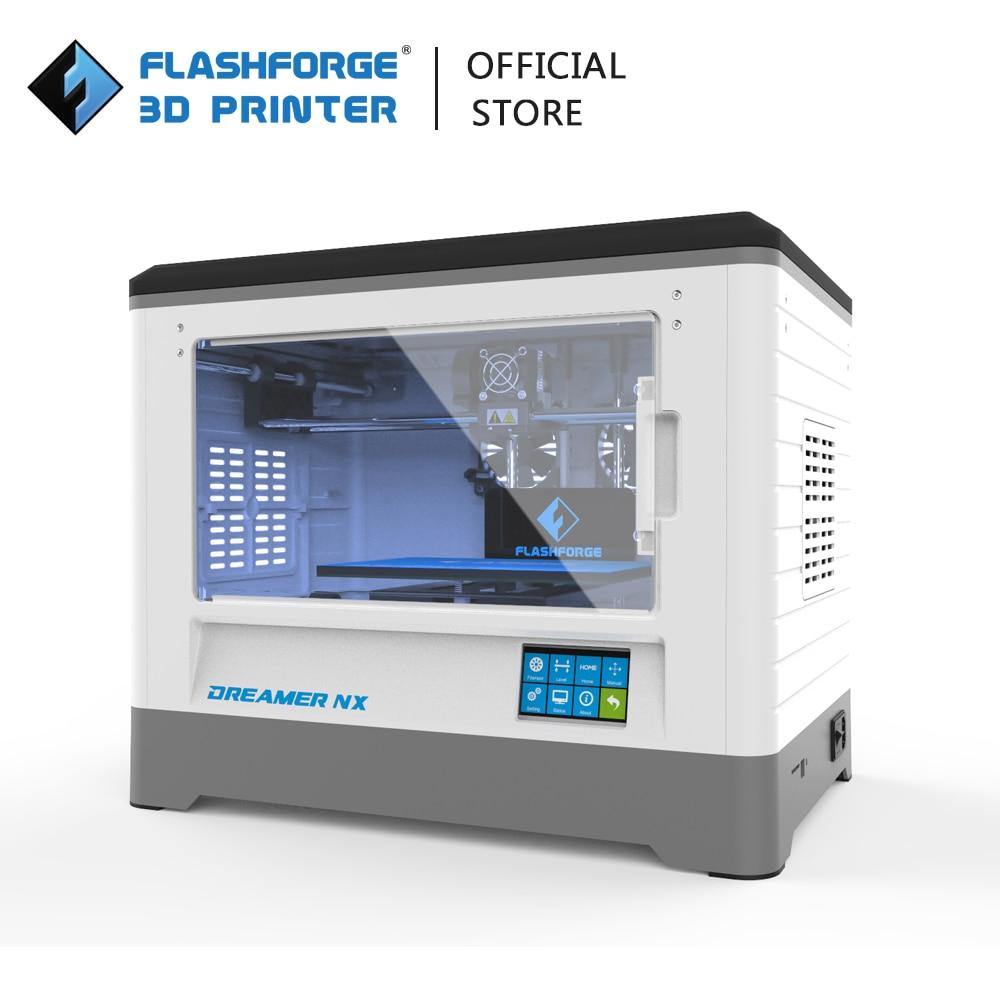 3D принтер Flashforge Dreamer NX, полностью собранный одинарный экструдер, беспроводное соединение, набор для 3D-принтера «сделай сам» с замком для сем...