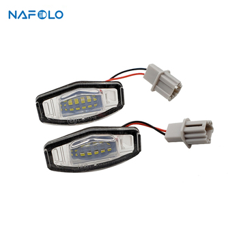 White 6000k Car Number License Plate Light for Honda Accord Odyssey Acura TSX Led Lamp Error Free image