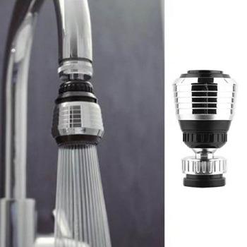 360 obrót obrotowa bateria dysza adapter do filtra wody perlator dyfuzor do napowietrzacza wysokiej jakości akcesoria kuchenne tanie i dobre opinie Liplasting Other Approx 57(L)x35(bottom dia )x21(top inner dia ) mm 21 5mm Sliver + Black 360rotation
