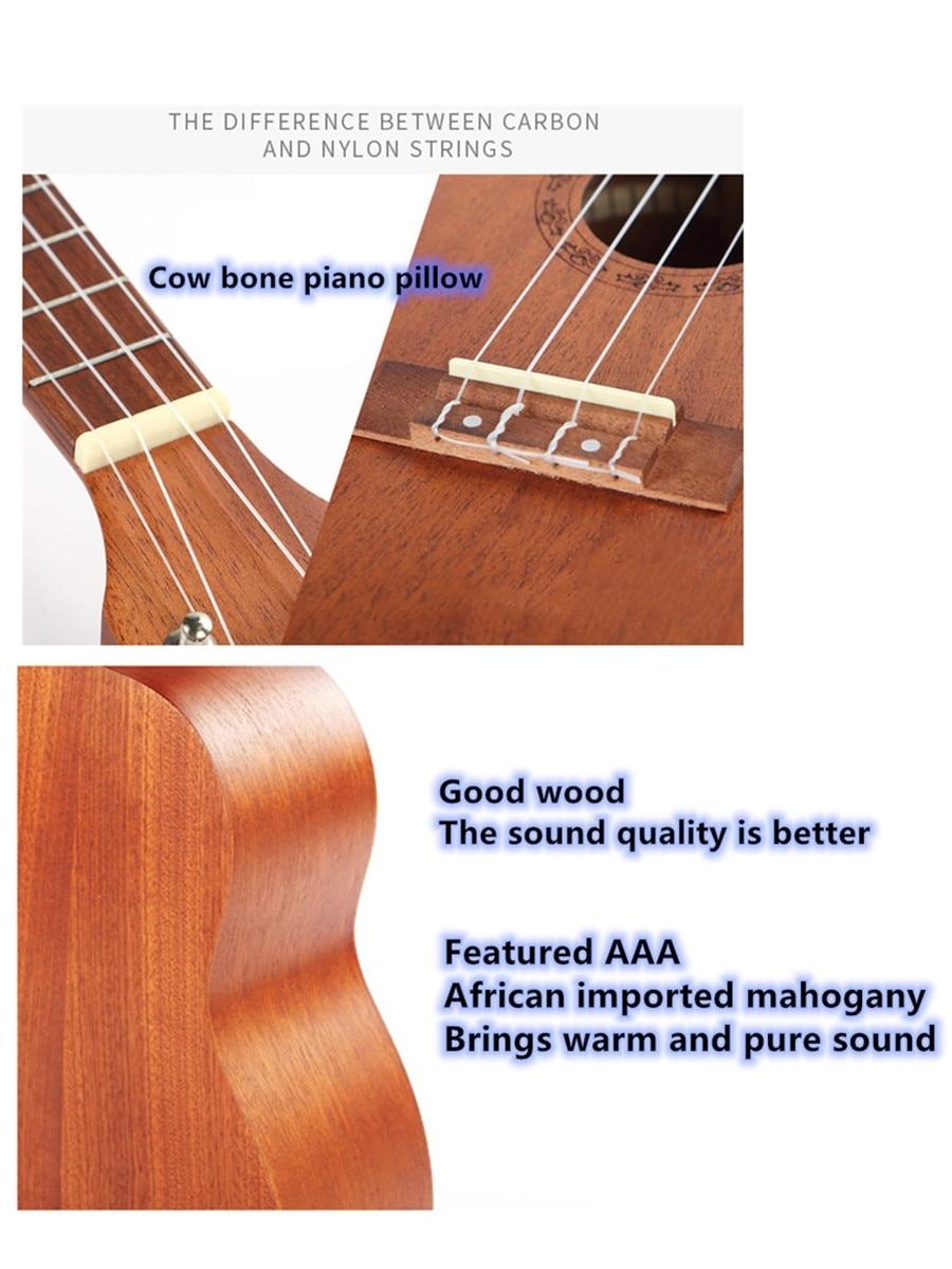 ammoon ukulele com 4 cordas 24 polegadas madeira 04