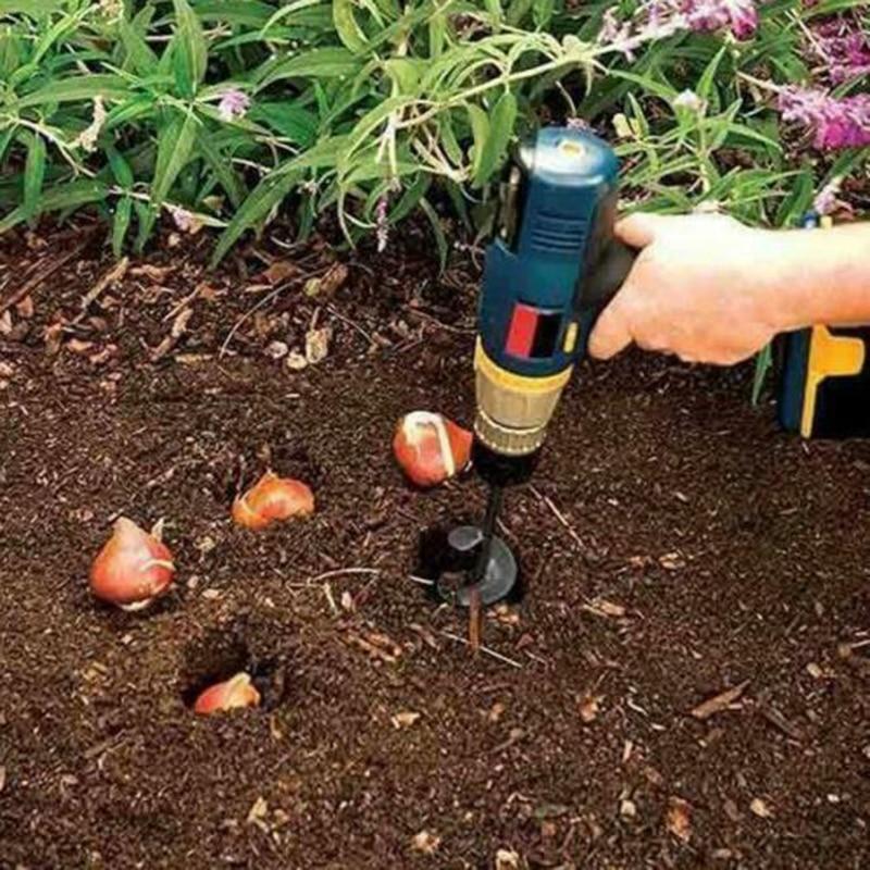 Auger Drill Bits Garden Ground Tulip Hole Digger Bulbs Planter Dirt Soil Borer