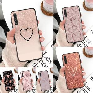 Gold Rose Love heart Customer Phone Case For Huawei Mate 30 Pro P20 P30 P40 pro lite Y7 Y6 2019 for Honor 8X 8A 10 20lite 10i