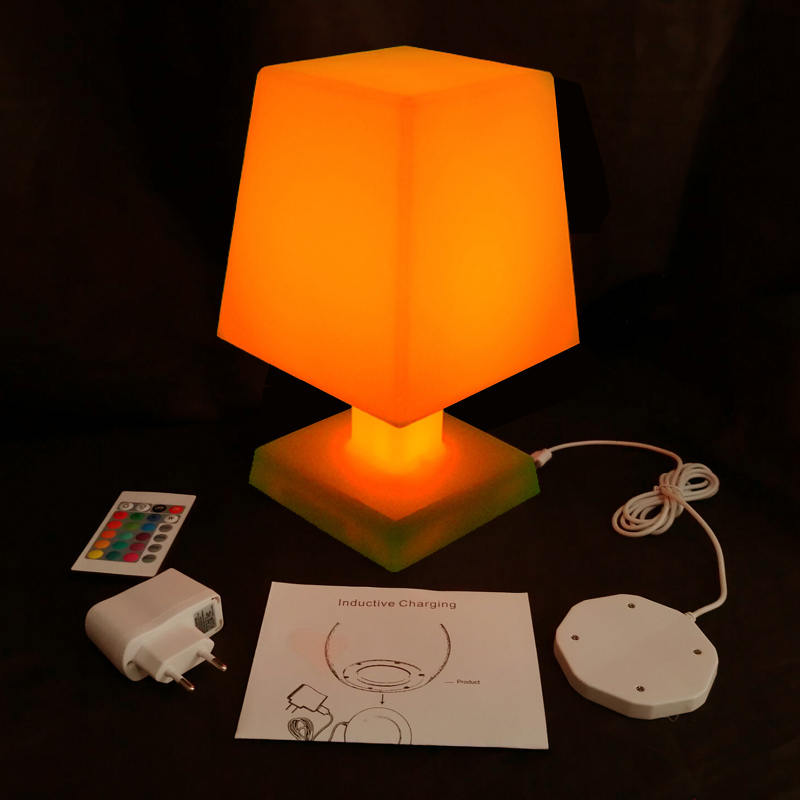 L16*<font><b>W16</b></font>*H25 New Arrival 16 Colour Changeable <font><b>LED</b></font> RGB Table Lamp Light for Christmas Atmosphere Mood Night Lamp Free shipping 1pc image