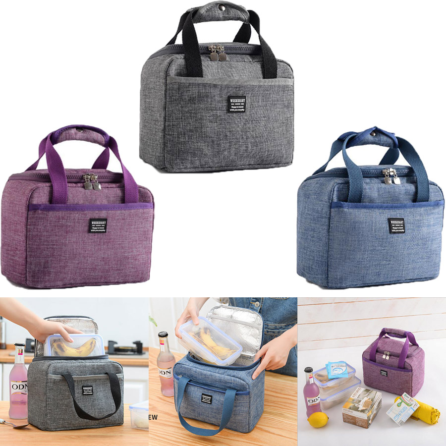 New Thermal Insulated Lunch Box Tote Cooler Handbag Bento Pouch Dinner Container School Food Storage Bags Portable Lunch Bag