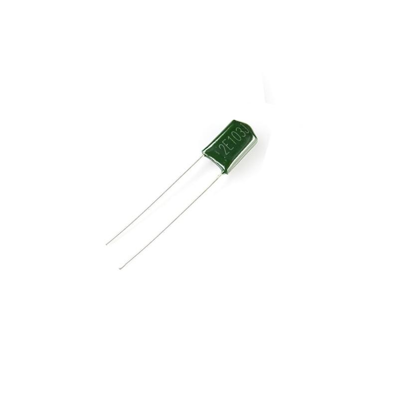 500PCS 100V 0.001uF 1nF 1000pF 2A102J ±5/% Mylar Film Capacitors Radial