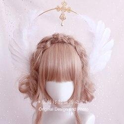 Lolita Lolita Virgin's Halo Cross Angel Feather Wings Aperture Church All-match Catwalk Photo